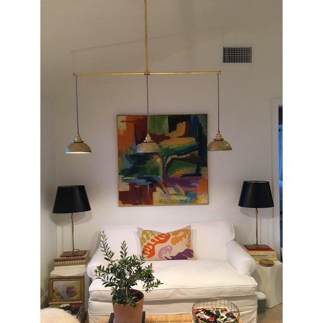 Gold Brass 3-Light Pendant Light For Sale - Image 8 of 11