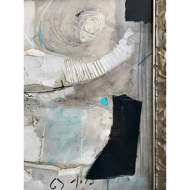 1960's Contemporary Black & White Abstract Painting by Graham Harmon For Sale - Image 4 of 8