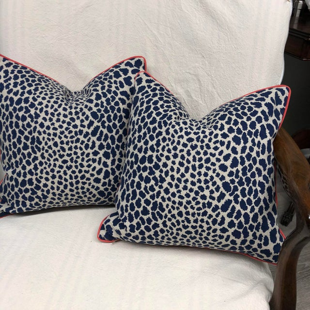 Contemporary Square Animal Print Pillows - a Pair For Sale - Image 4 of 11