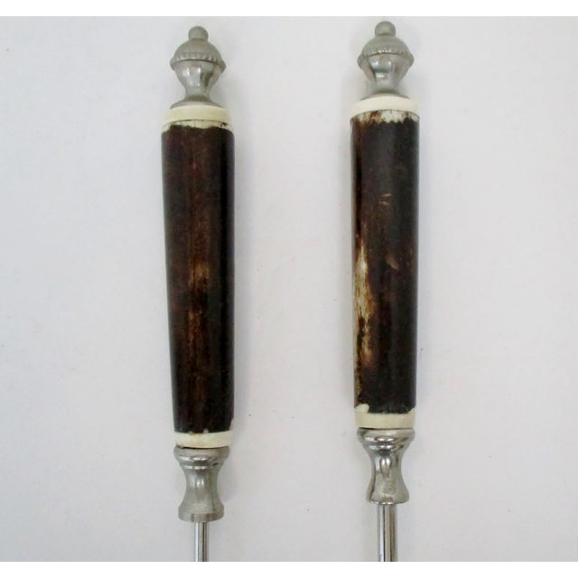 Stainless & Bone Bar Tools, Set of 2 For Sale - Image 4 of 6