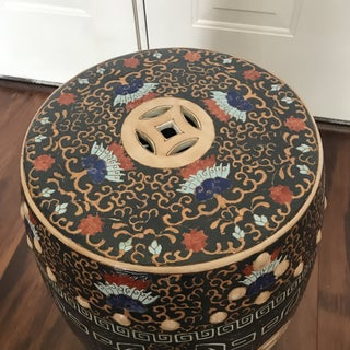 Chinese Double Lucky Coin Garden Drum Stool Preview
