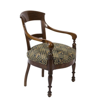 19th Century Biedermeier Armchair With Upholstered Seat
