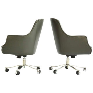 1970s Modern Nicos Zographos High-Back Executive Chairs For Sale