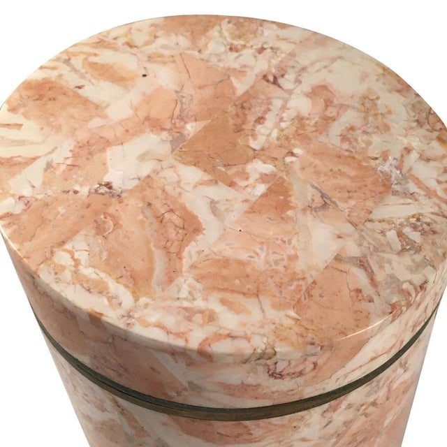Vintage 1970s Maitland-Smith Stone Canister - Image 6 of 7