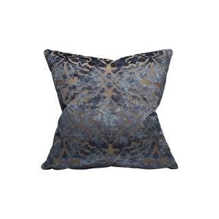 Scalamandre Palazzo Velvet Pillow, Indigo For Sale
