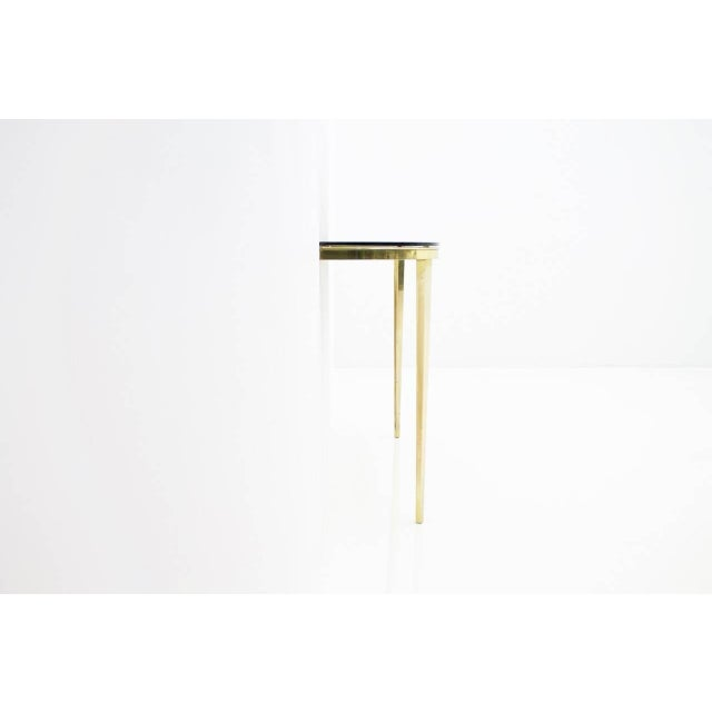 Solid Brass and Glass Wall Console, 1960s For Sale - Image 4 of 10