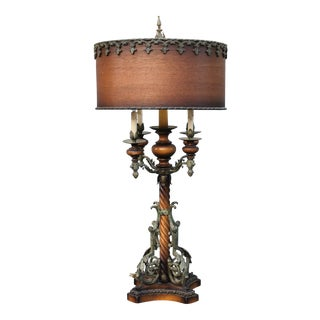 1960s Mediterranean Revival 6-Light Table Lamp For Sale