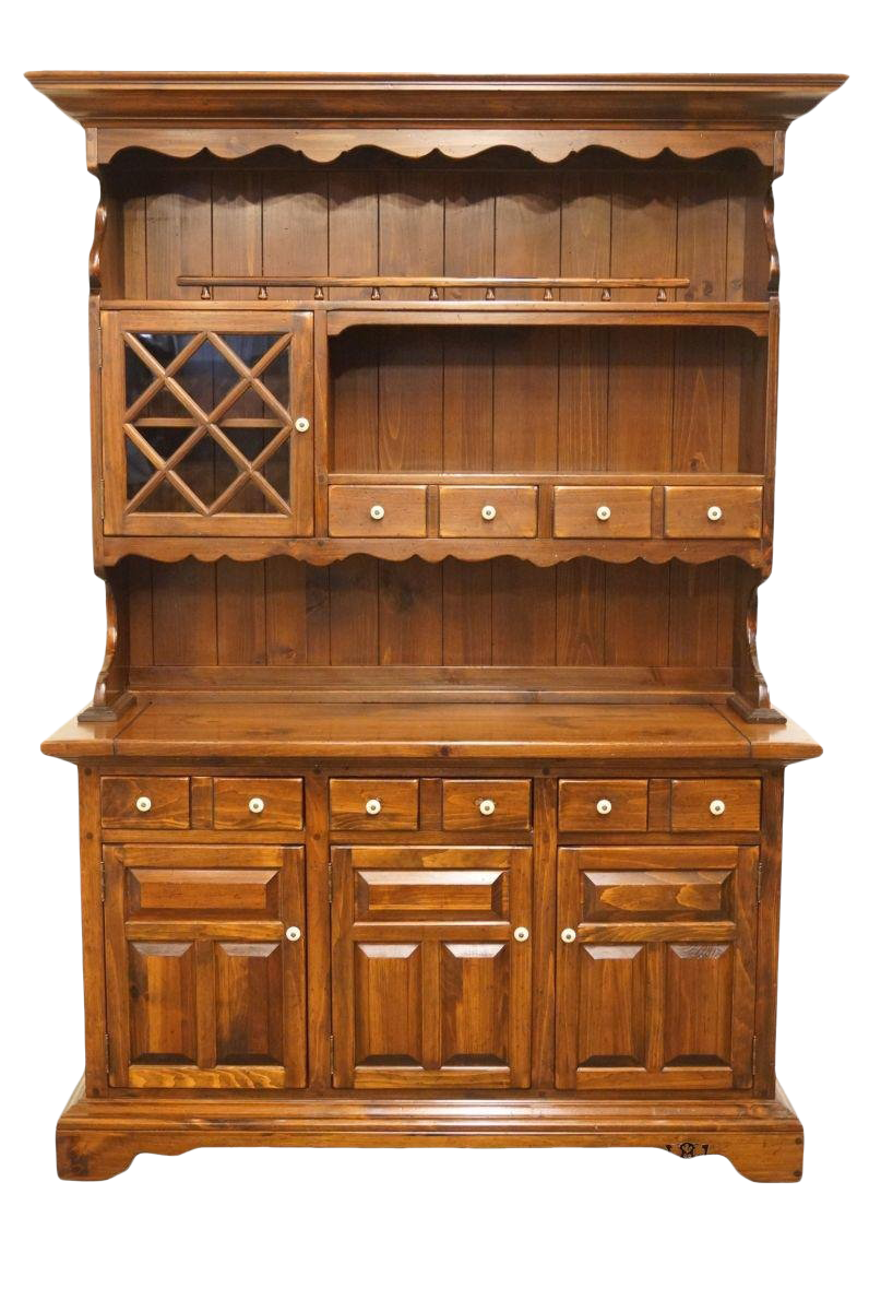 Late 20th Century Vintage Ethan Allen Antiqued Pine Old Tavern Buffet