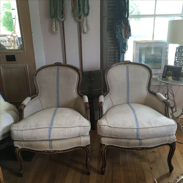 Antique French Bergère Chairs - A Pair - Image 2 of 5
