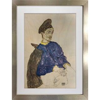 "Egon Schiele ""Russian Prisoner of War"" Lithograph For Sale"