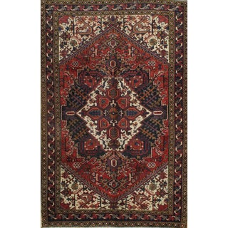 Pasargad Hand-Knotted Persian Heris Rug - 5' x 7'