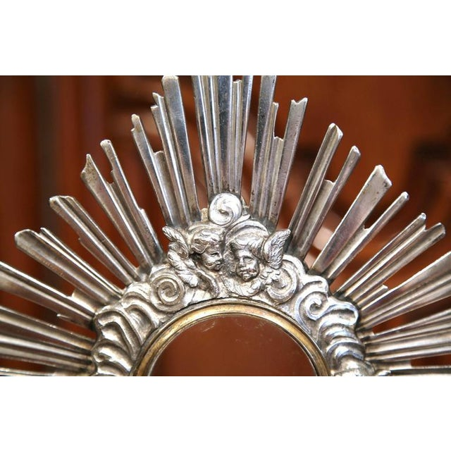 18th Century French Bronze Silvered Catholic Monstrance With Shining Sun - Image 3 of 8