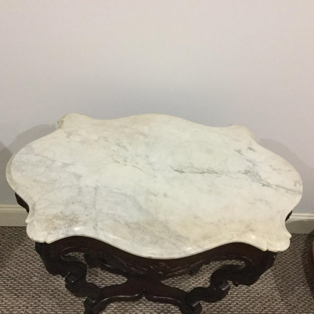 Antique Marble Top Center Table - Image 7 of 7