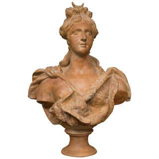 Italian Nobility Terracotta Bust For Sale