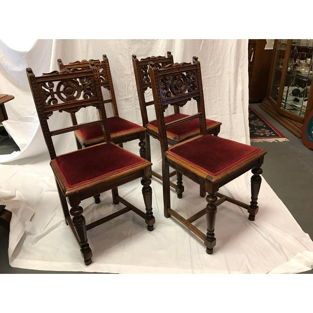 Old Victorian Dining Rooms: Antique Victorian Dining Room Chairs - Set Of 4