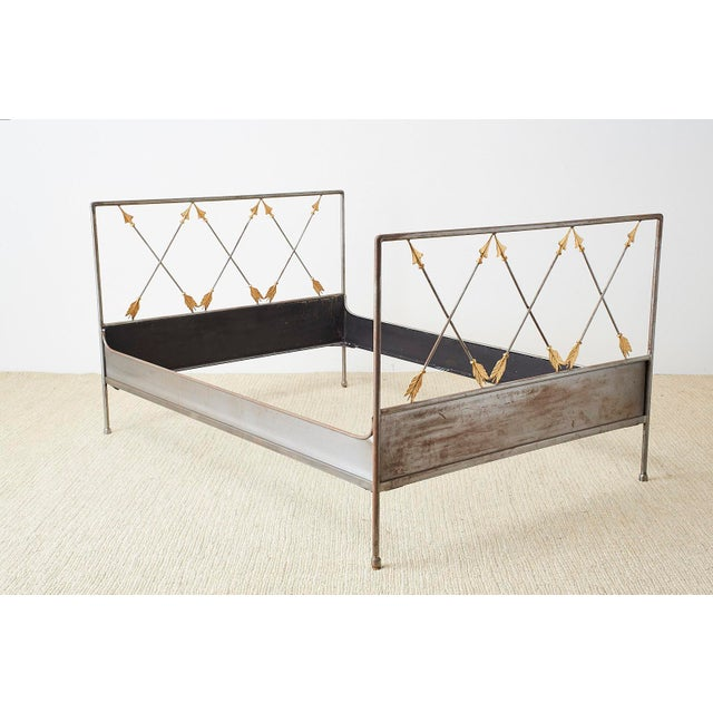 Neoclassical French Neoclassical Maison Jansen Style Steel Daybed For Sale - Image 3 of 13