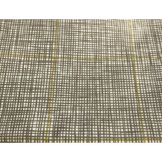 Lucas Check - Putty Fabric by Ferrick Mason - 1.5 Yards For Sale