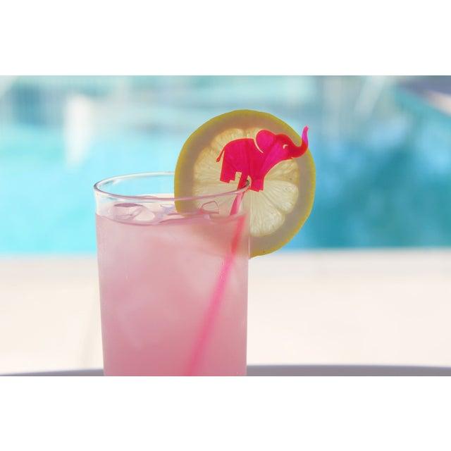 Hot Pink Elephant Drink Stirrers - Set of 6 - Image 6 of 6