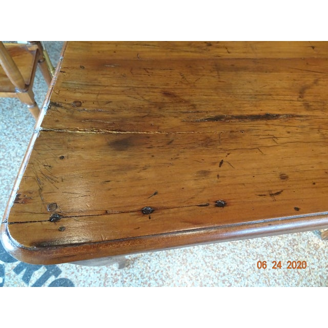 18th Century French Walnut Table For Sale - Image 9 of 13