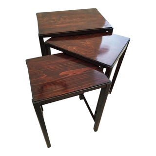 Beechwood Nesting tables by Thonet, 1930 - Set of 3 For Sale