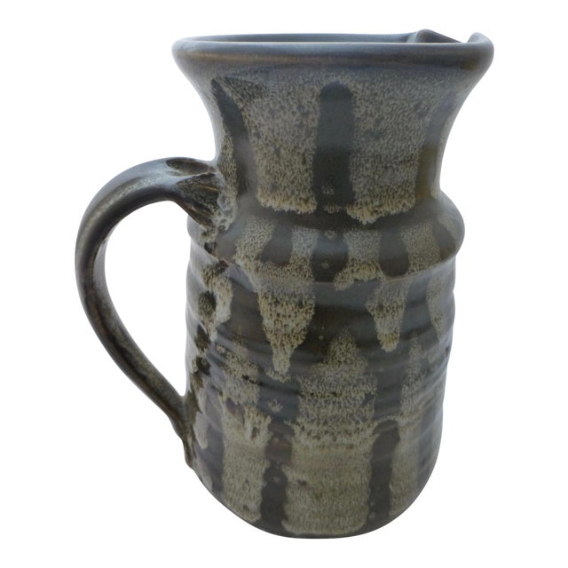 Mid-Century Studio Pottery Water Pitcher For Sale