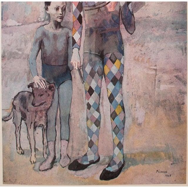 Blue 1950s Picasso, Original Period Blue Harlequin Lithographs - a Pair For Sale - Image 8 of 13