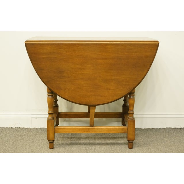 Walnut 20th Century Country Jamestown Ny Solid Walnut Maddox Table For Sale - Image 7 of 13