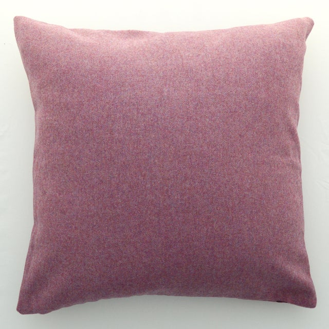 FirmaMenta Italian Solid Mauve Pink Sustainable Wool Pillow For Sale - Image 4 of 4