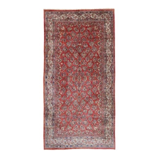 Antique Persian Sarouk Palace Rug, 11'08 X 22'10 For Sale