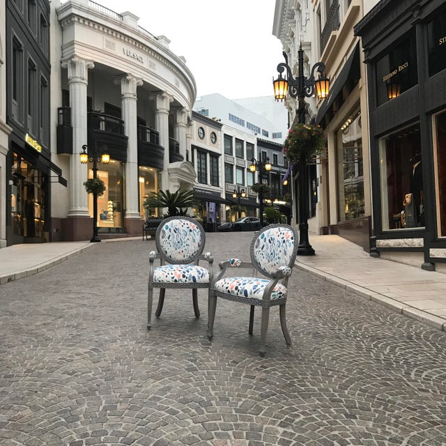 Fabric Louis XVI Grey Chair For Sale - Image 7 of 8