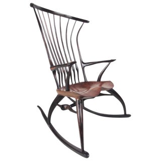 Joe Graham for Lenox Workshop Rustic Modern Sculptural Windsor Rocking Chair For Sale