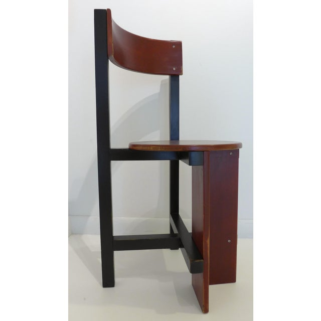 Constructivist chair--an homage to De Stijl--by noted Dutch architect Piet Blom (1934-99). Made by Huizenga for the...