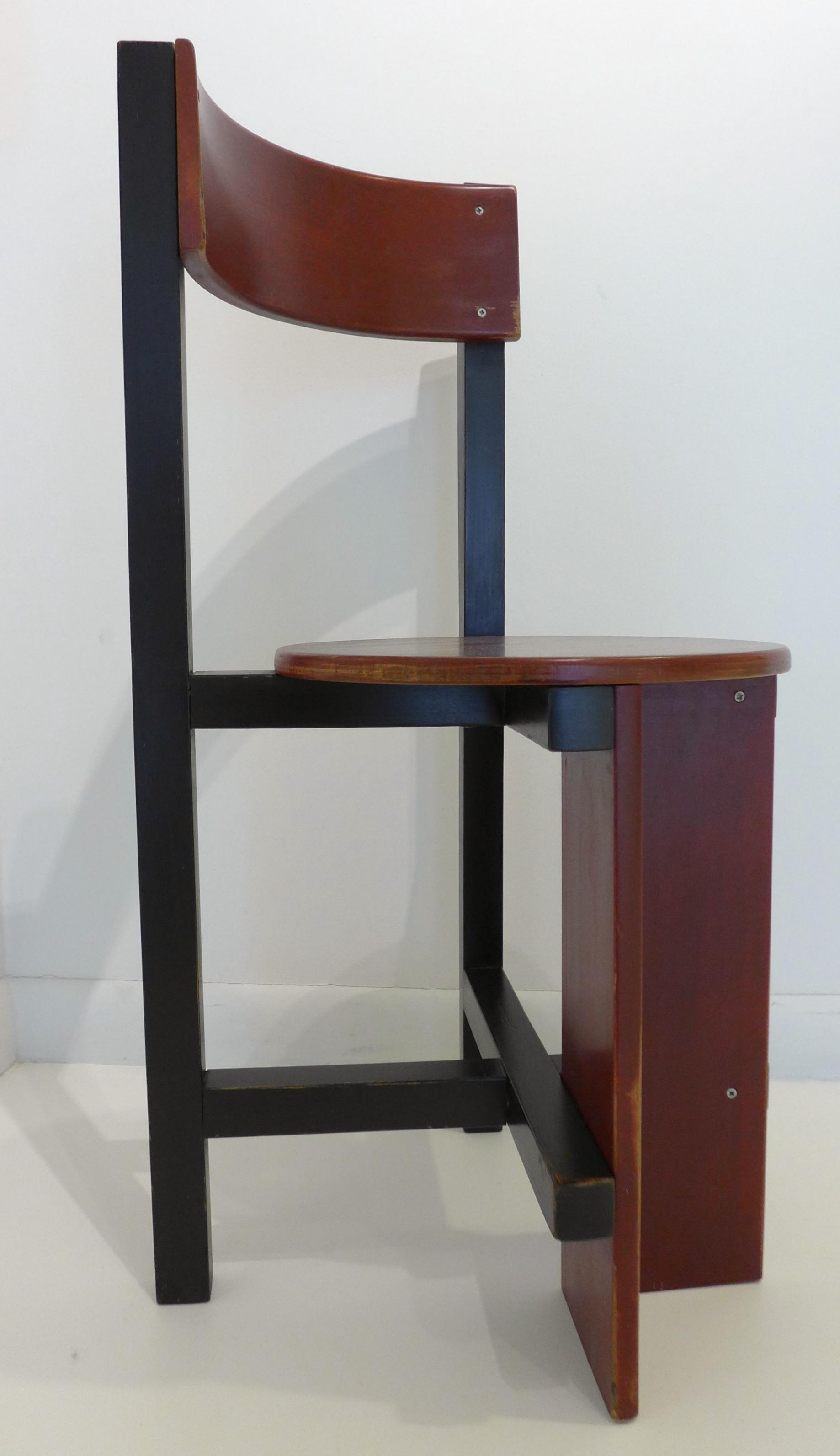 Constructivist Chair  An Homage To De Stijl  By Noted Dutch Architect Piet