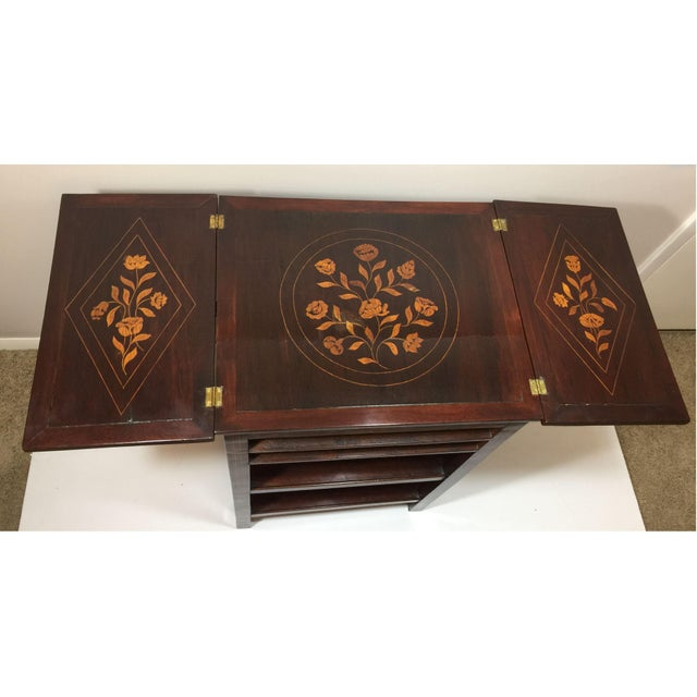 Antique Marquetry Inlaid Dressing Table For Sale - Image 9 of 13