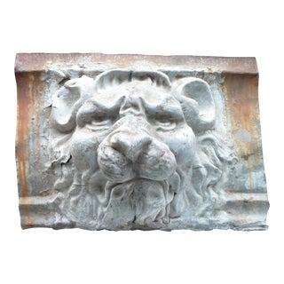 Late 19th Century Antique Zinc Lion Head Bracket For Sale