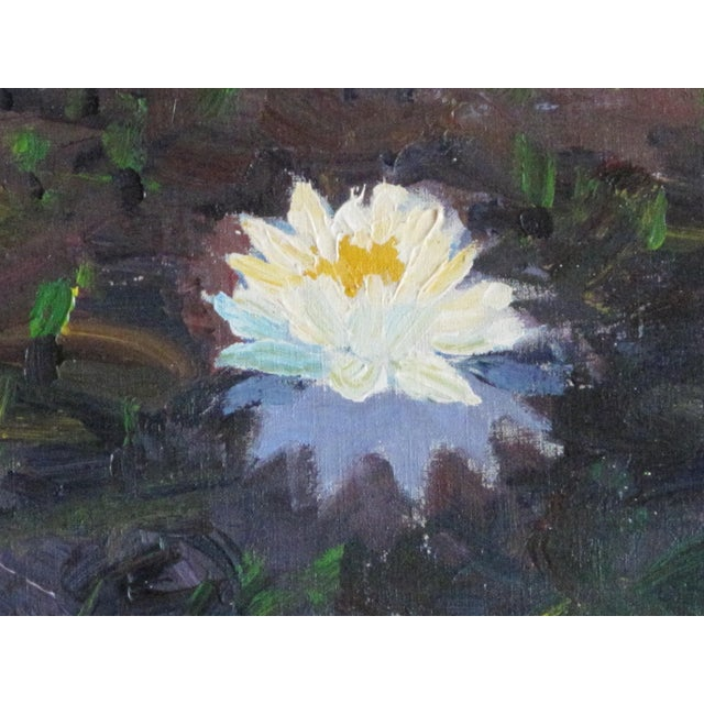 """""""White Lotus, Massachsetts"""" Painting by Alan H. Curtis - Image 3 of 3"""