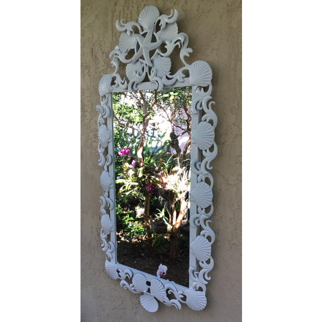 Seashell Iron Mirrors - a Pair For Sale In Miami - Image 6 of 13