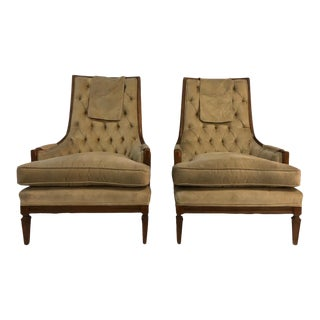1960s Pair Mid Century Lounge Side Chairs - a Pair For Sale