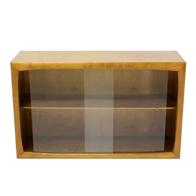 Mid 20th Century Vintage Mid Century Edmund Spence Blonde Wood Swedish Modern Hanging Bookcase For Sale - Image 5 of 5