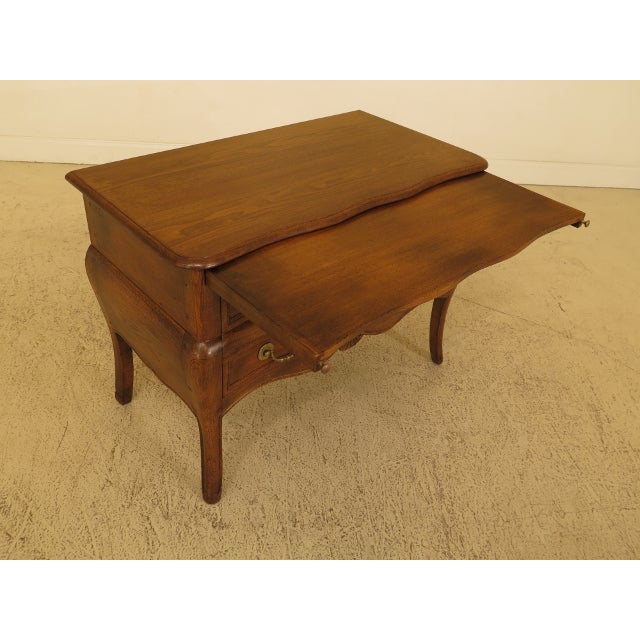 Wood Vintage Italian 2 Drawer Walnut Commode Chest For Sale - Image 7 of 13