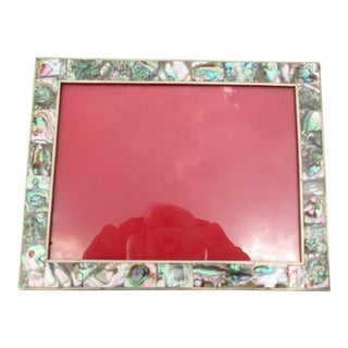 Mexican Abalone and Alpaca Photo Frame For Sale