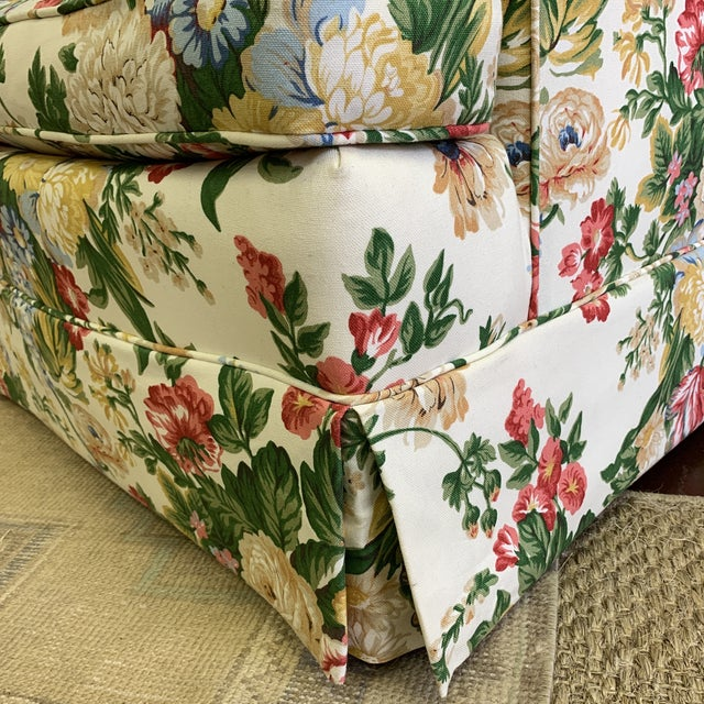 Floral Club Chair - New Upholstery (Vintage Fabric) For Sale - Image 4 of 13