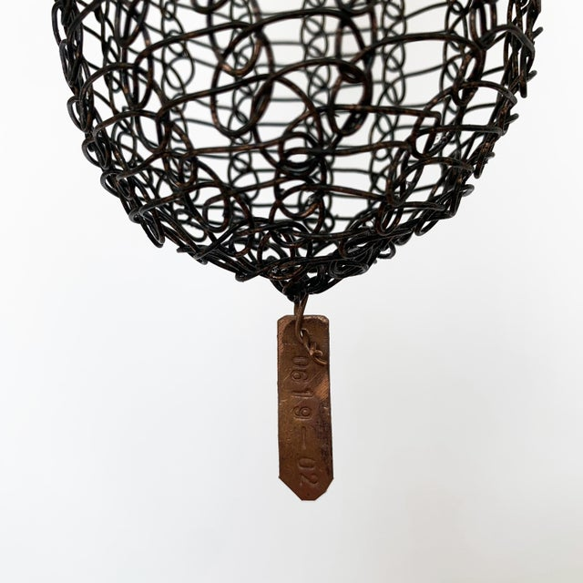 d'Lisa Creager Woven Wire Hanging Sculpture For Sale - Image 9 of 11