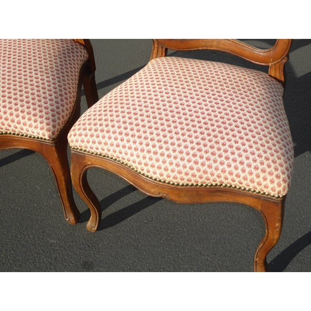 French Country Red Plaid Accent Chairs - A Pair For Sale - Image 7 of 10