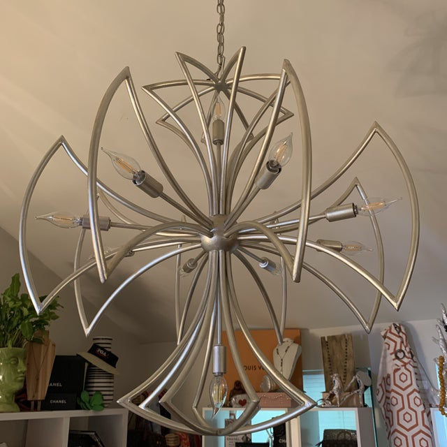Currey & Company Malta Cross Chandelier For Sale In West Palm - Image 6 of 6