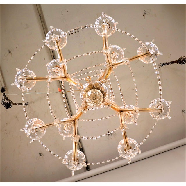 Vintage Maria Theresa Crystal Chandelier For Sale - Image 12 of 13