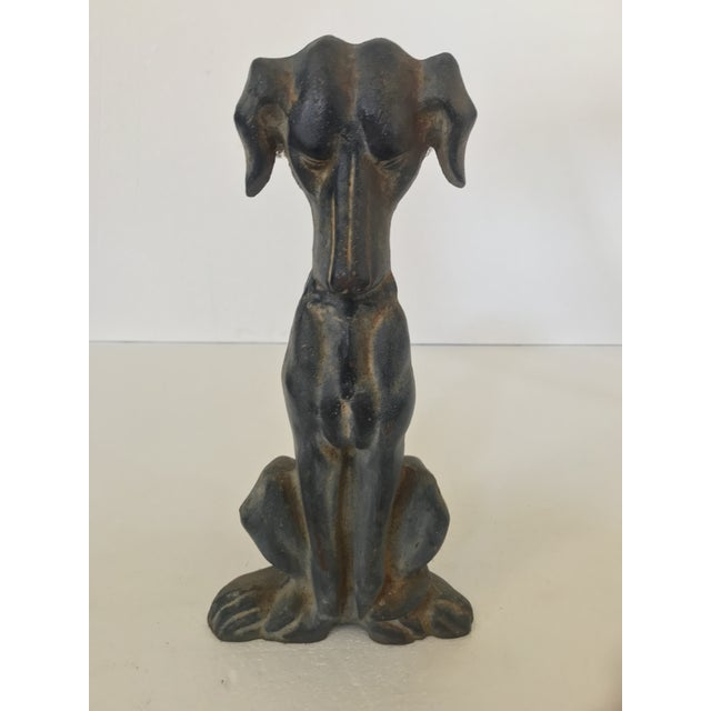 1980s Cast Iron Hound Dog Doorstop For Sale - Image 11 of 12