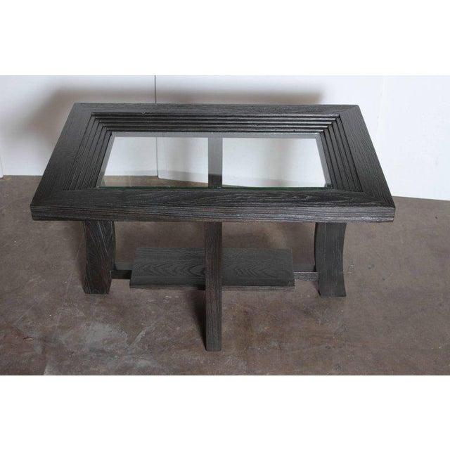 Art Deco Post Art Deco Cerused Oak Side Table by Brown Saltman Paul Frankl For Sale - Image 3 of 11