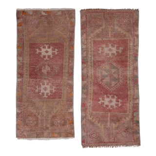 "Distressed Turkish Small Rug - a Pair 1'5"" X 3'4"" For Sale"