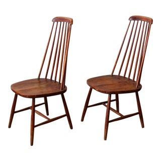 1920s Vintage French Windsor Style Chairs- A Pair For Sale